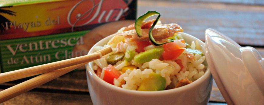 Ensalada de arroz con ventresca