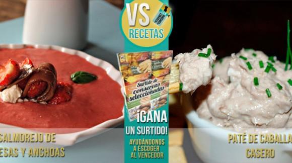 VS Recetas: Salmorejo de fresa vs Paté de caballa
